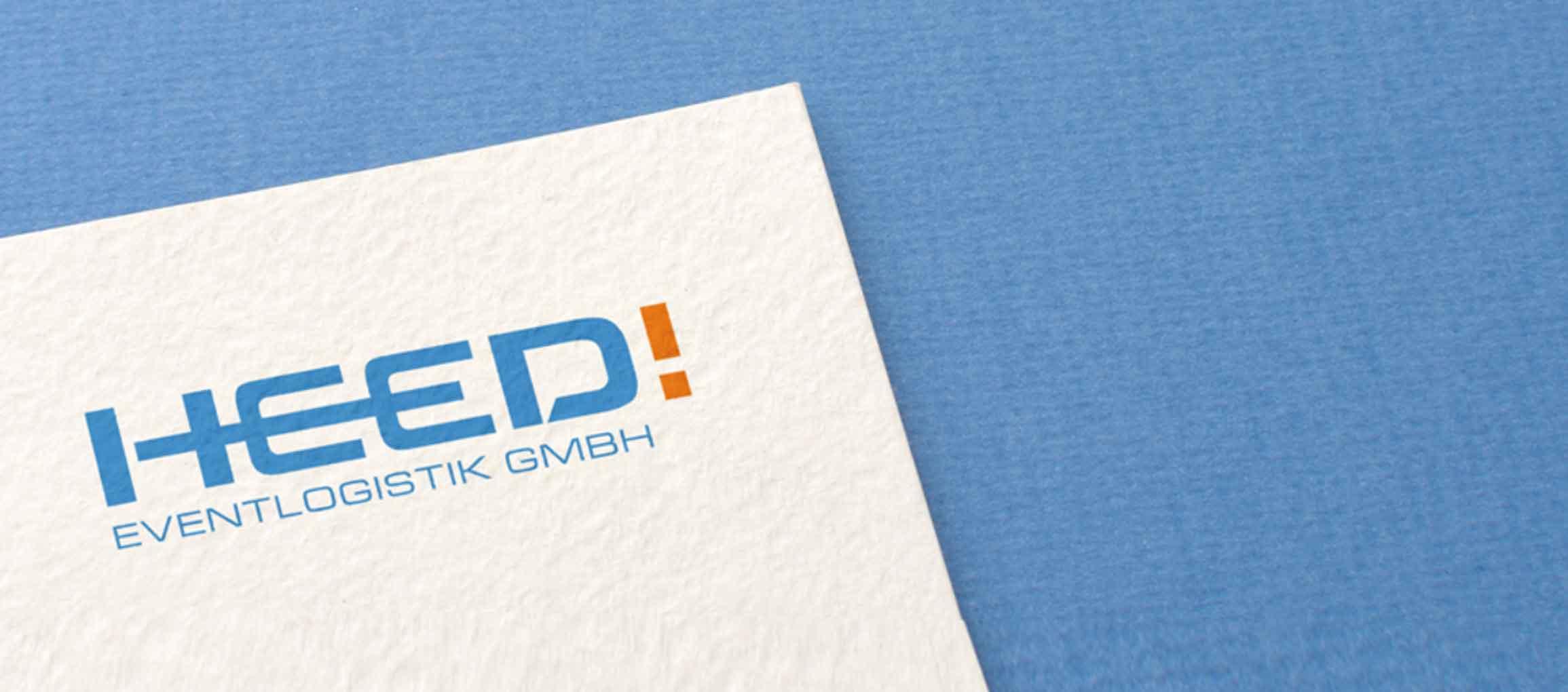 HEED! Eventlogistik: Corporate Design Entwicklung
