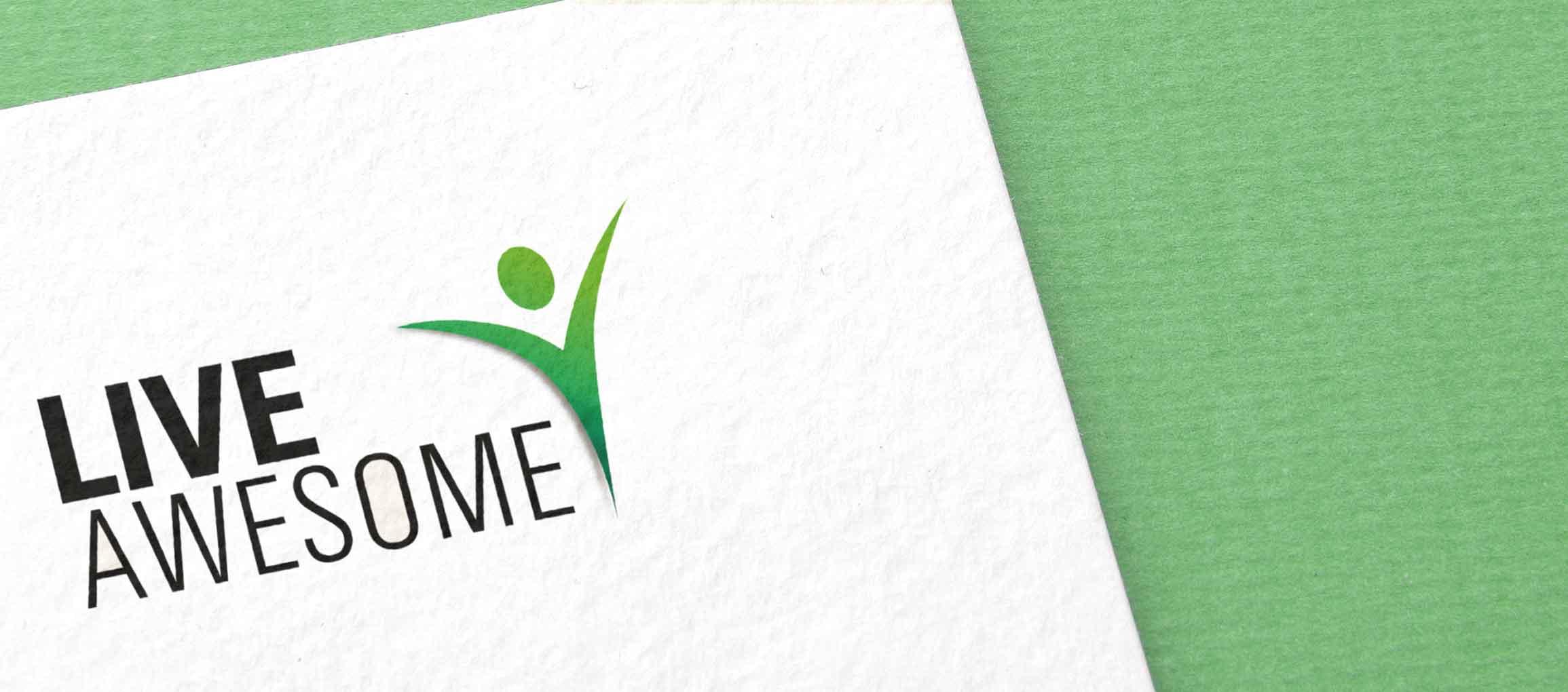 Logo-Gestaltung und Webdesign für LIVE AWESOME