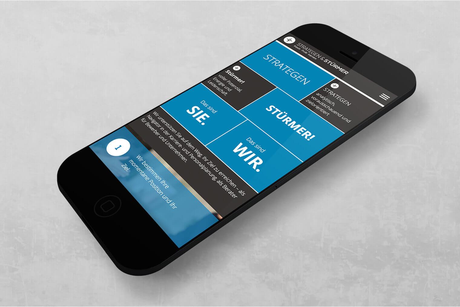 STRATEGEN & STÜRMER: Mobile Webdesign