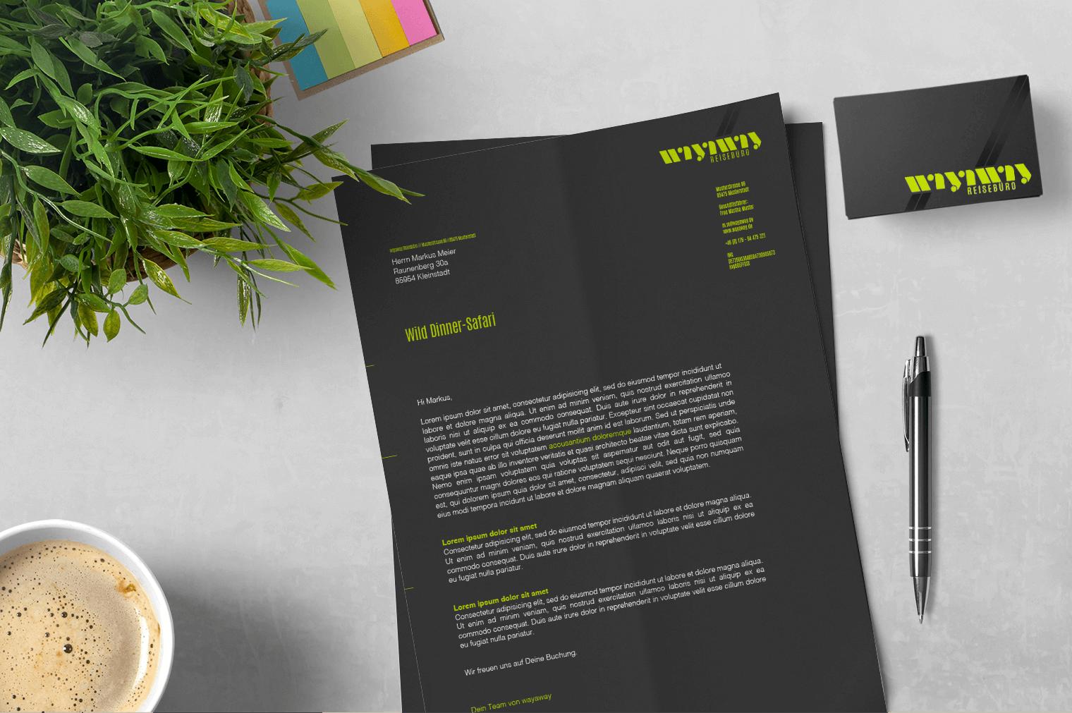 Die Designtante: Geschäftsausstattung wayaway